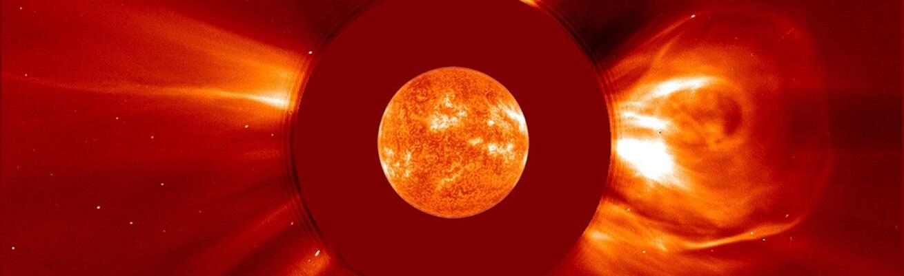 Solar Flare - SOHO/NASA