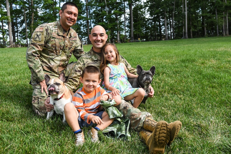 Maj. Patterson serves full-time as the Virginia National Guard's deputy human resources officer and Sgt. Patterson recently accepted an Active Guardd/Reserve, or AGR, position at the Sandston-based 2nd Battalion, 224th Aviation Regiment. The pair say being a dual military couple has unique challenges.