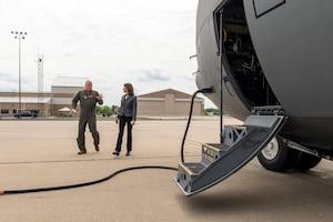 Representative Bustos touring Air National Guard base.