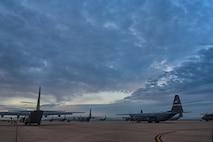 C-130s on flight li ne