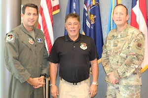 Col. Roberto Balzano, left, the CONR-1AF (AFNORTH) National Capital Region liaison officer; Mr. Edgar Salinas, center, the CONR-1AF (AFNORTH) Air-Maritime Operations Center (AMOC) liaison officer and Col. Paul Bishop, EADS Commander