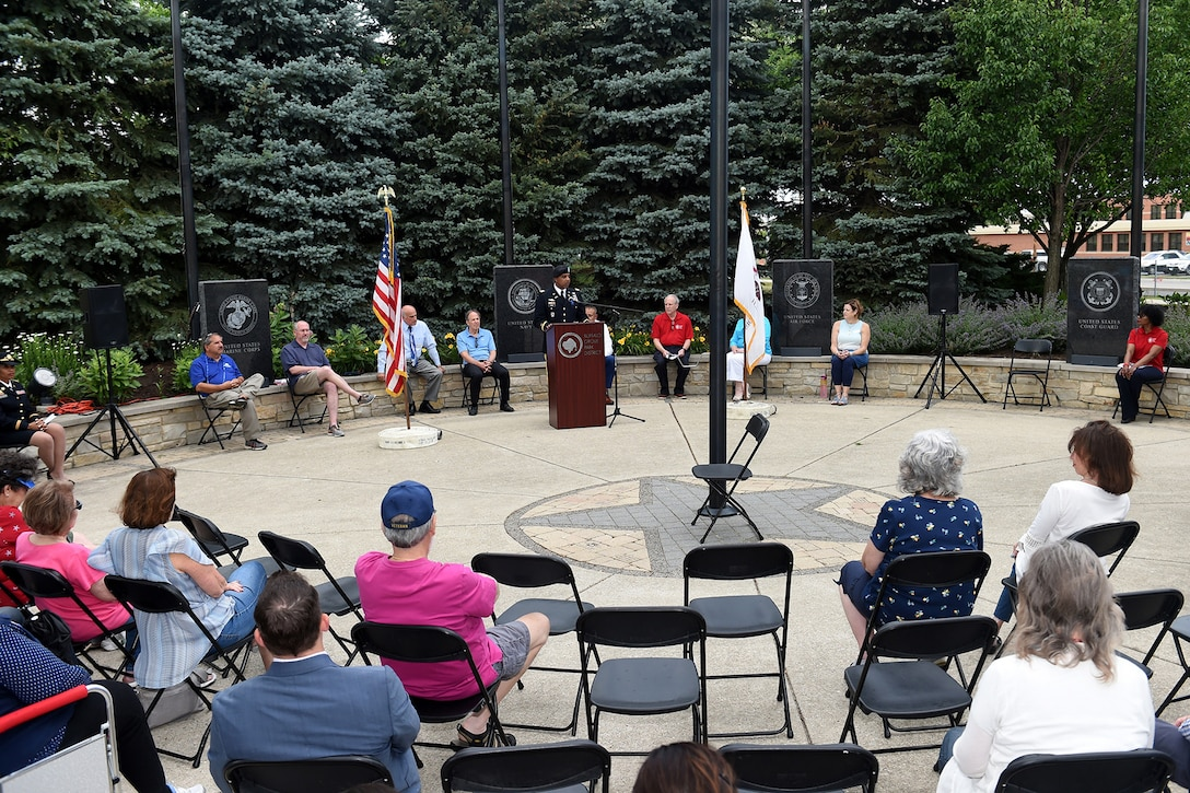 Residents, veterans and local leaders of Buffalo Grove participate in their annual Flag Day celebration at Veterans Park on June 14th.