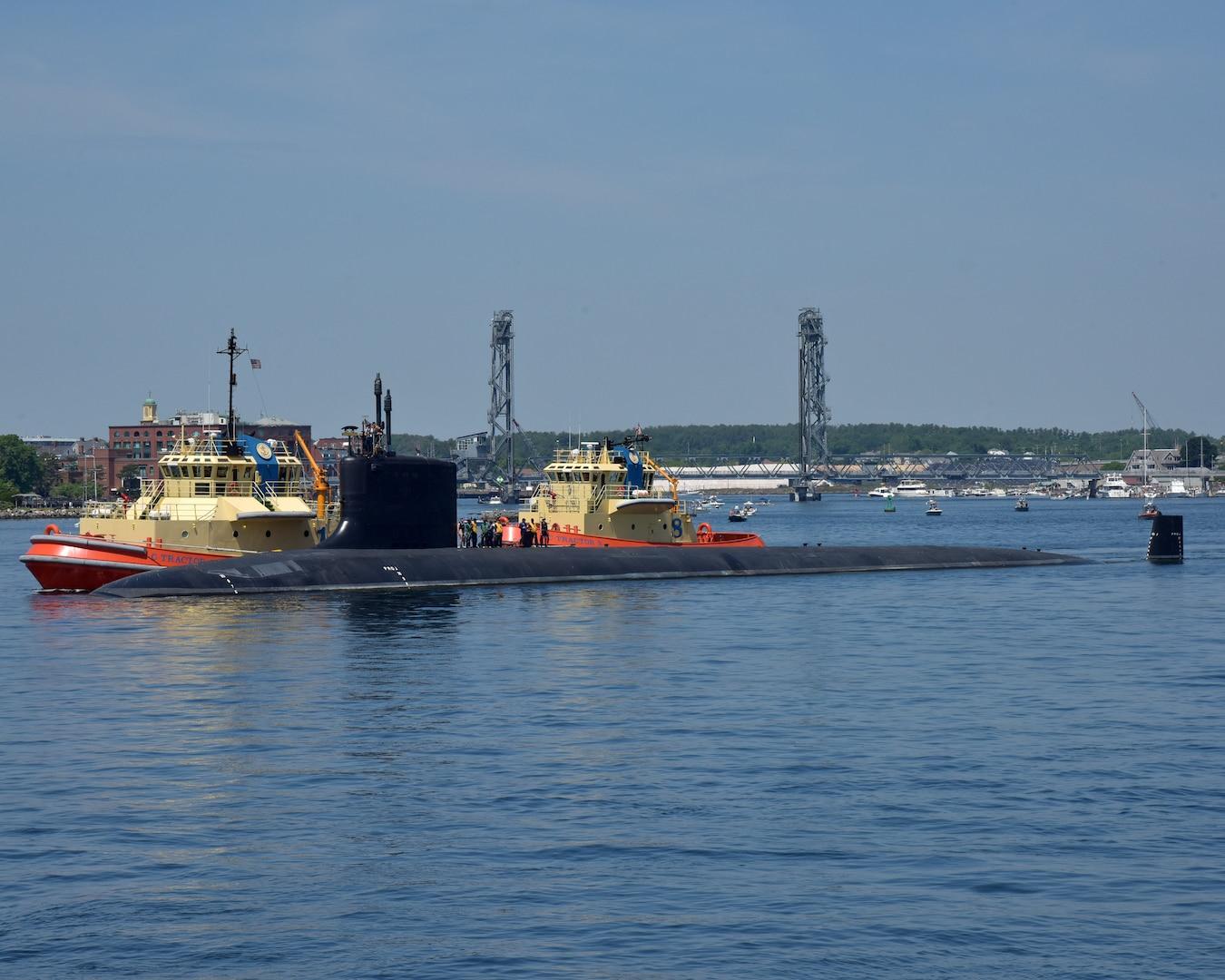 USS California (SSN 781) Departs Portsmouth Naval Shipyard