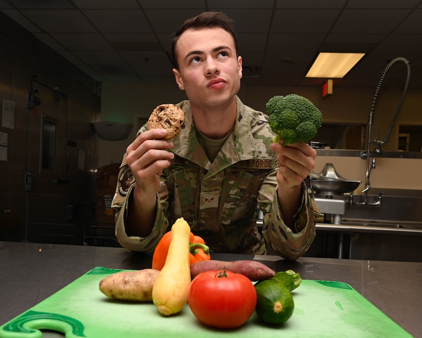 Airman posing for a photo