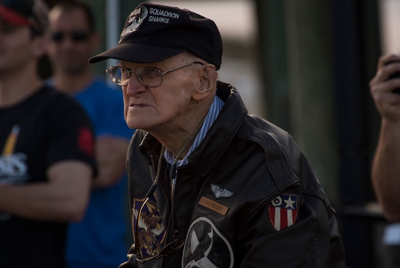 Photo of Don Miller in a flight jacket
