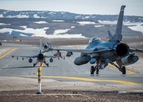 U.S. Air Force F-16 Fighting Falcons