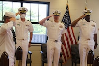 Cmdr. Ameian Jeremiah relieved Cmdr. Christopher Norris as commanding officer of the Arleigh Burke-class guided-missile destroyer USS James E. Williams (DDG 95), during a June 7 change of command ceremony held at Naval Station Norfolk.