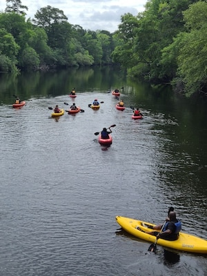 Iron Guardian Soldiers from the Soldier Recovery Unit – Fort Stewart participate in a Kayak adventure June 4 at Landing 3 on the Canoochee River at Fort Stewart as part of SRU Adaptive Reconditioning training.