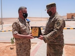 The 111th Theater Engineer Brigade, currently deployed to the CENTCOM Area of Operations, aims to continue the ongoing U.S. partnership with the Jordanian Armed Forces. Recently, members of the 111th TEB leadership team met with JAF Corps of Engineer leaders to discuss their shared goals and opportunities to train together.  (Photo Credit: 1st Lt. James Mason)