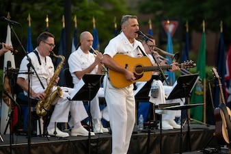 Musician 1st Class Kenny Ray Horton performs with the U.S. Navy Band.