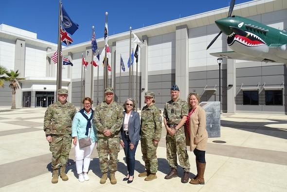 Photo of U.S. Space Command commander's visit to Vandenberg.