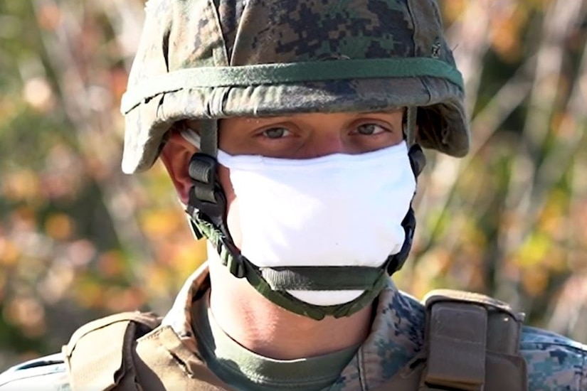 A member of the Navy Hospital Corps looks at the camera.