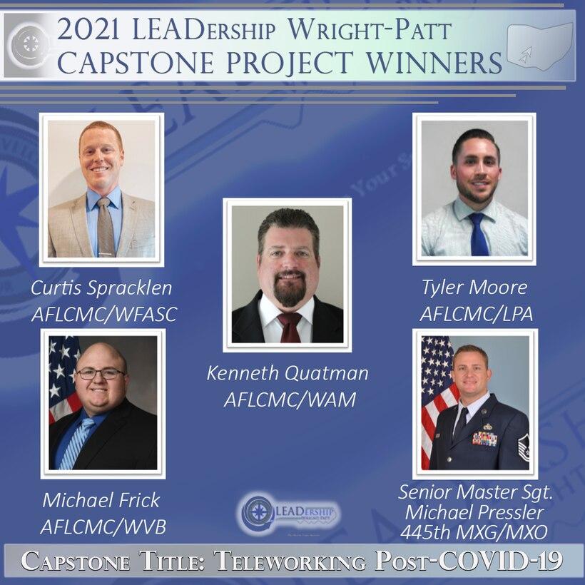 The 2021 LEADership Wright-Patt capstone winning team's project was on teleworking post-COVID-19.