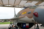 An F-16 from the 149th Fighter Wing at Joint Base San Antonio is painted with a Vietnam-era nonstandard camouflage pattern, June 10, 2021. The new heritage jet's paint scheme was chosen to honor the Wing's 25th anniversary of being re-designated from the 149th Fighter Group to the 149th Fighter Wing.