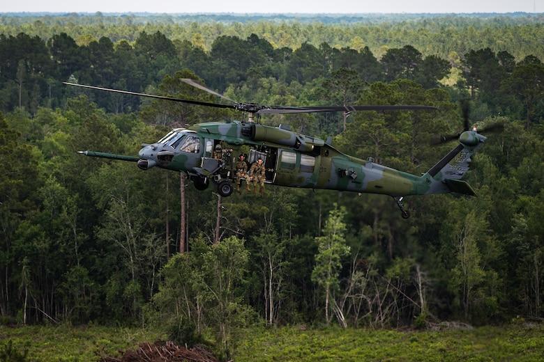 An HH-60G lands