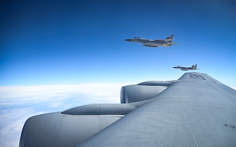 D-Day 77th anniversary flyover and F-15 refueling