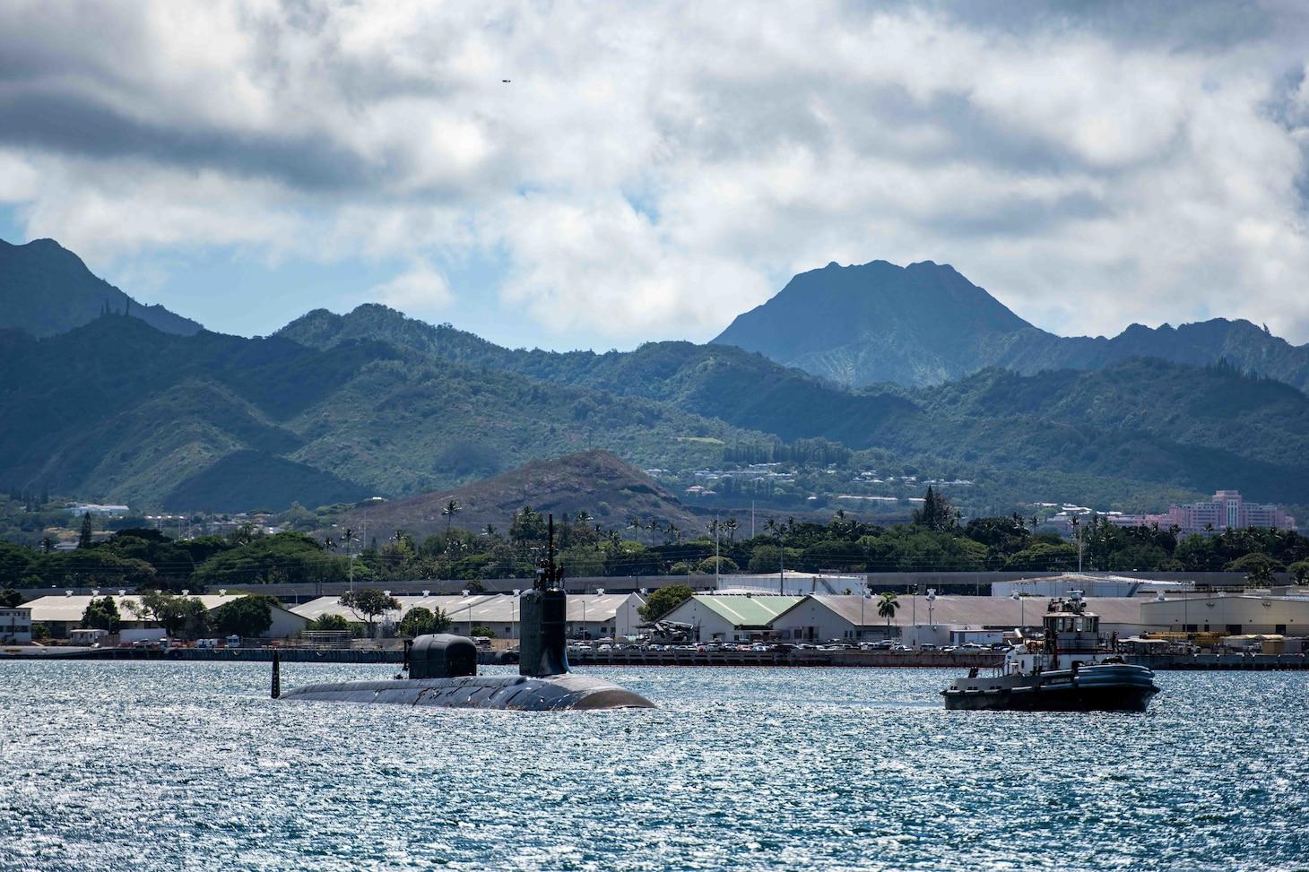 USS North Carolina (SSN 777) departs Joint Base Pearl Harbor-Hickam.