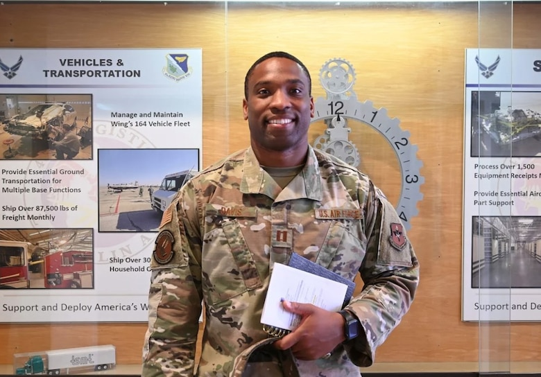 """Capt. Jonathan Davis, 47th Force Support Operations Officer """"The importance of Juneteenth has undoubtedly grown since having children for myself. Knowing my boys will grow up in a world that views them as equal participants really comforts me. Fueling outward thinking and exposing my children to life experiences is my main objective. I'm extremely thankful for Juneteenth because it has changed the landscape for minorities of all different walks of life."""" (U.S Air Force photo by 2nd Lieutenant Esther Min)"""