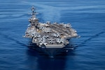 PACIFIC OCEAN (June 13, 2021) Nimitz-class aircraft carrier USS Carl Vinson (CVN 70) transits the Pacific Ocean. Vinson is currently underway conducting routine maritime operations in U.S. 3rd Fleet.