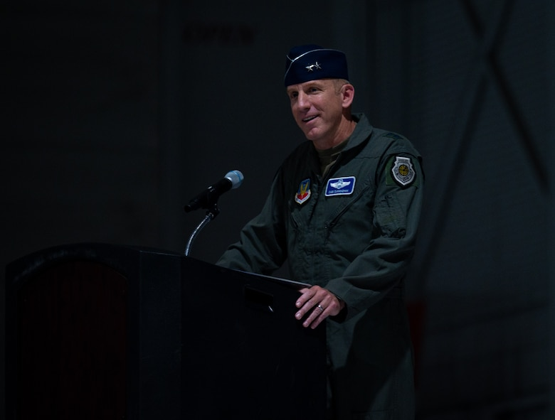 general at podium