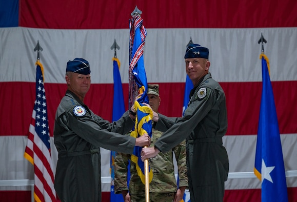 Air Force general passes guidon to Air Force general