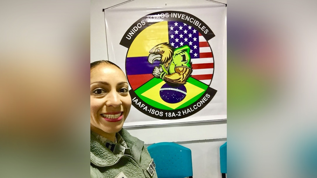 """""""I have been in LEAP since 2014, and it has completely saved my language skills! Not only has LEAP helped me recover some of my Spanish vocabulary, but also it has significantly increased my ability to speak, read and write the language,"""" said LEAP scholar Capt. Michelle Cazares. (Photo courtesy of Capt. Michelle Cazares)"""
