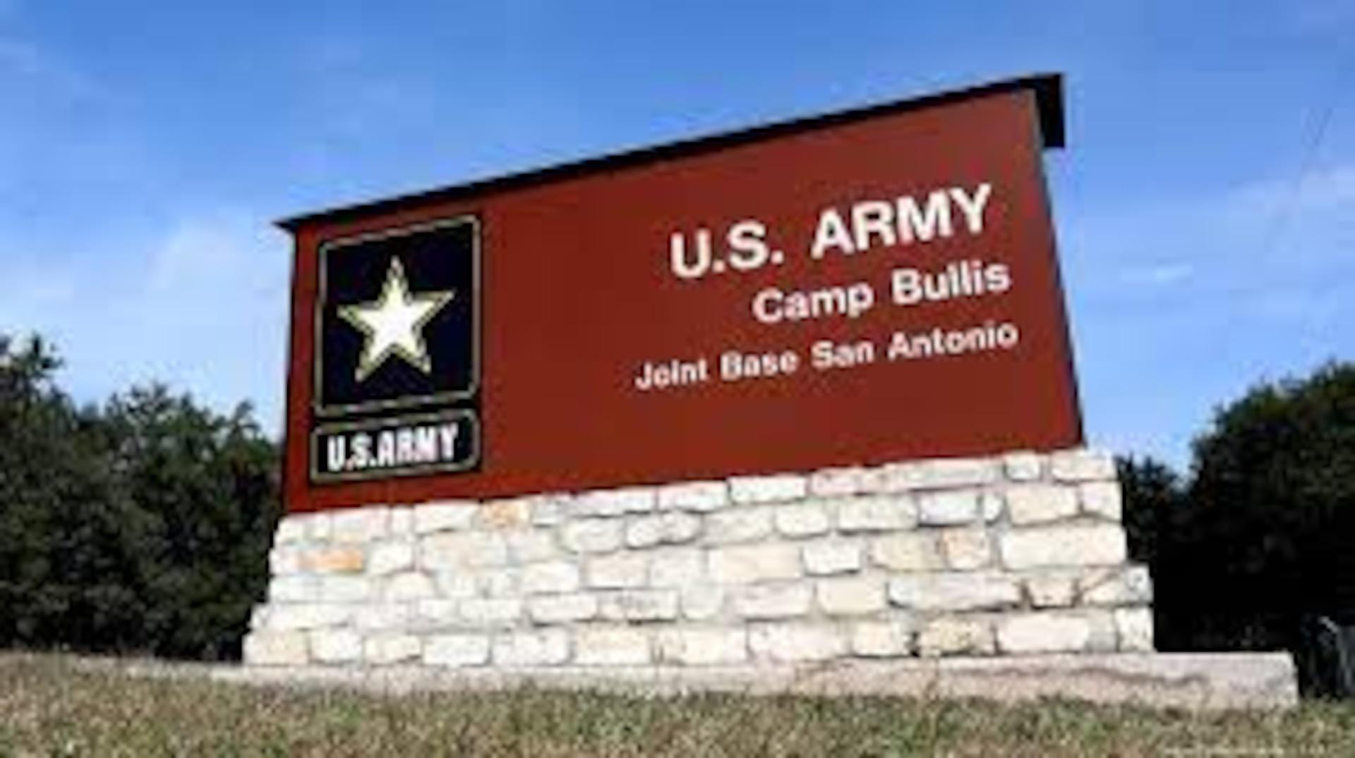 Signage for Joint Base San Antonio-Camp Bullis.