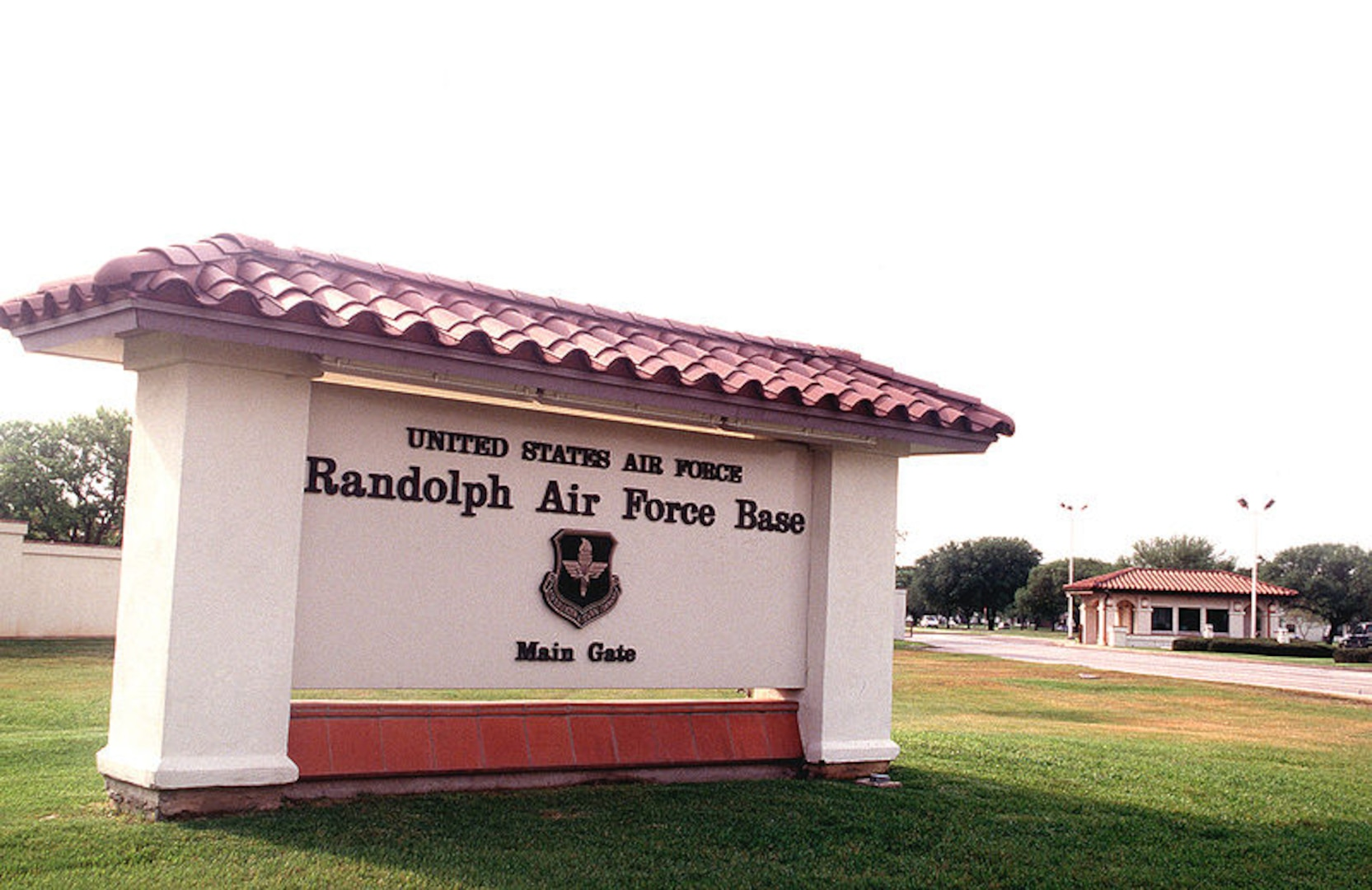 Signage for Randolph Air Force Base.