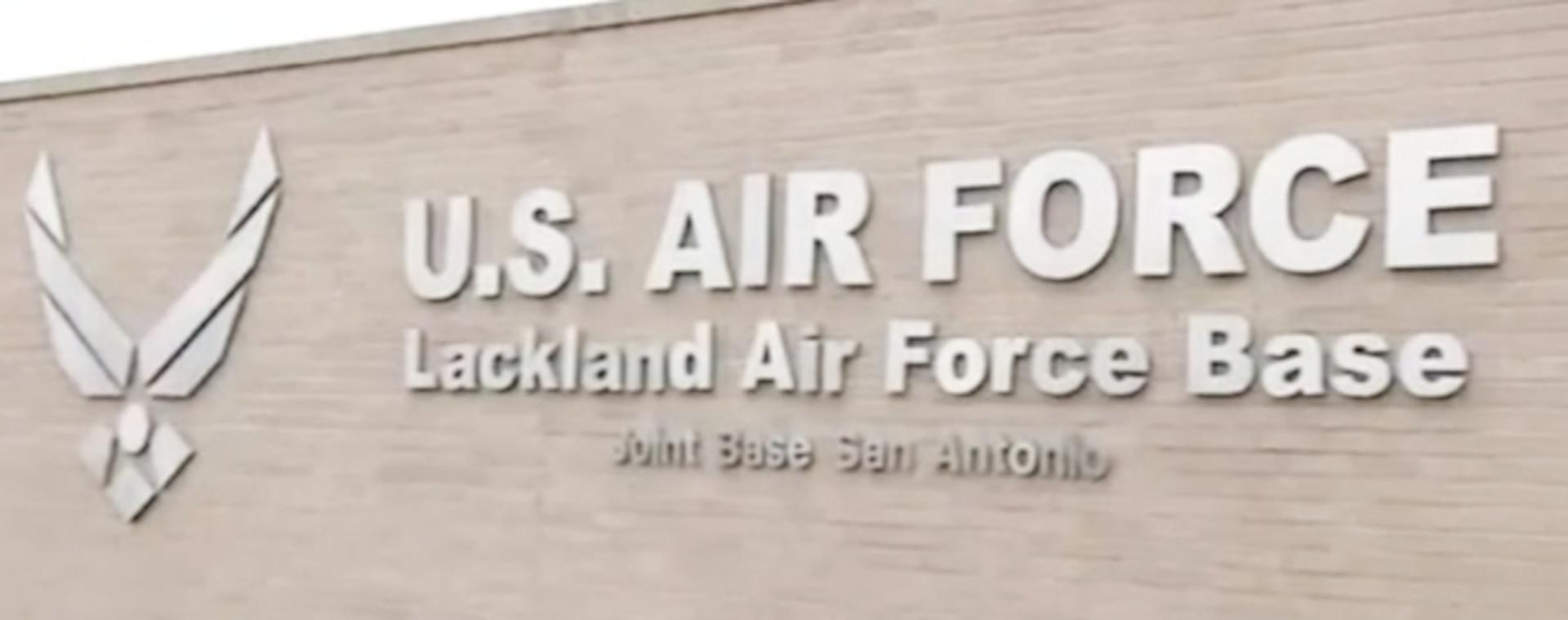 Lackland Air Force Base signage.