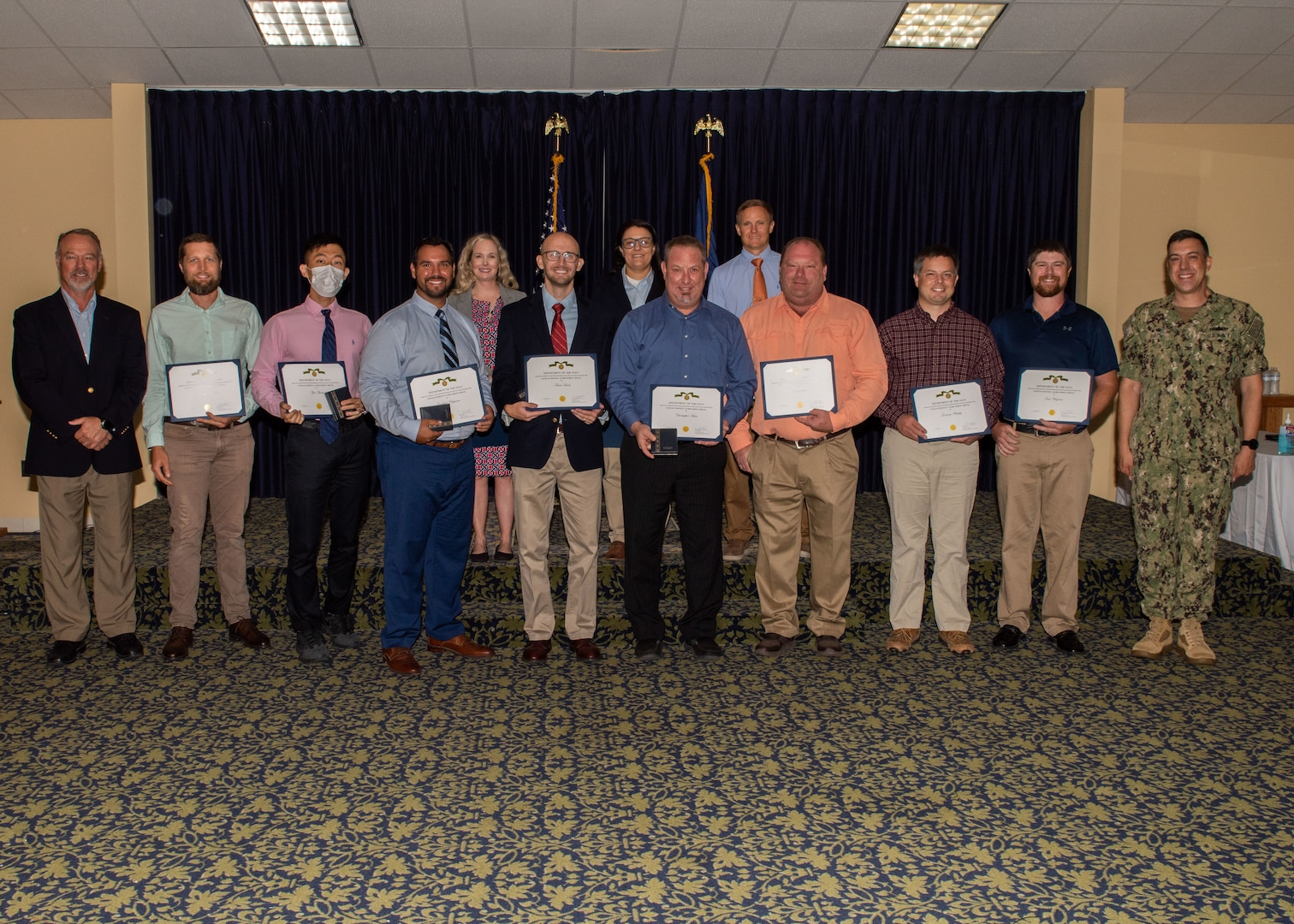 Naval Surface Warfare Center Panama City Division presented 17 Navy Civilian Service Achievement Medals June 21. The medals recognize those who sustained performance or specific achievement of a superlative nature at the equivalent level of the Navy.