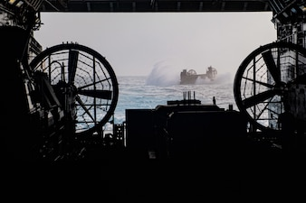 USS New Orleans (LPD 18) conducts amphibious operations.