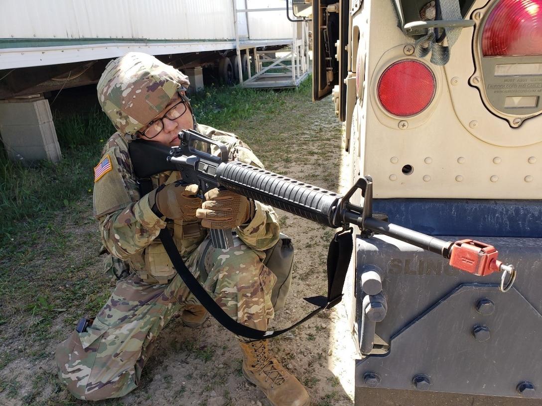 U.S. Army Reserve Soldiers test their battlefield skills at WAREX 86-21-02