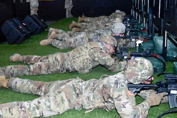 647th Regional Support Group (Forward) Soldiers Conduct Weapons Training
