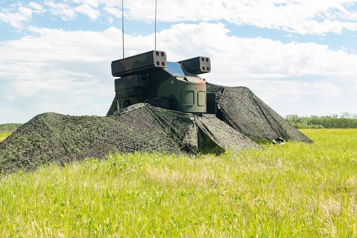 United States Army, South Carolina Army National Guard, 263rd Army Air and Missile Defense Command Avenger Defence System at 4 Wing, Cold Lake, Alberta.
