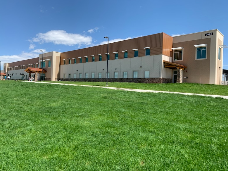 4th Combat Aviation Brigade's new 4th Assault Battalion hangar, Fort Carson, Colorado, May 20.