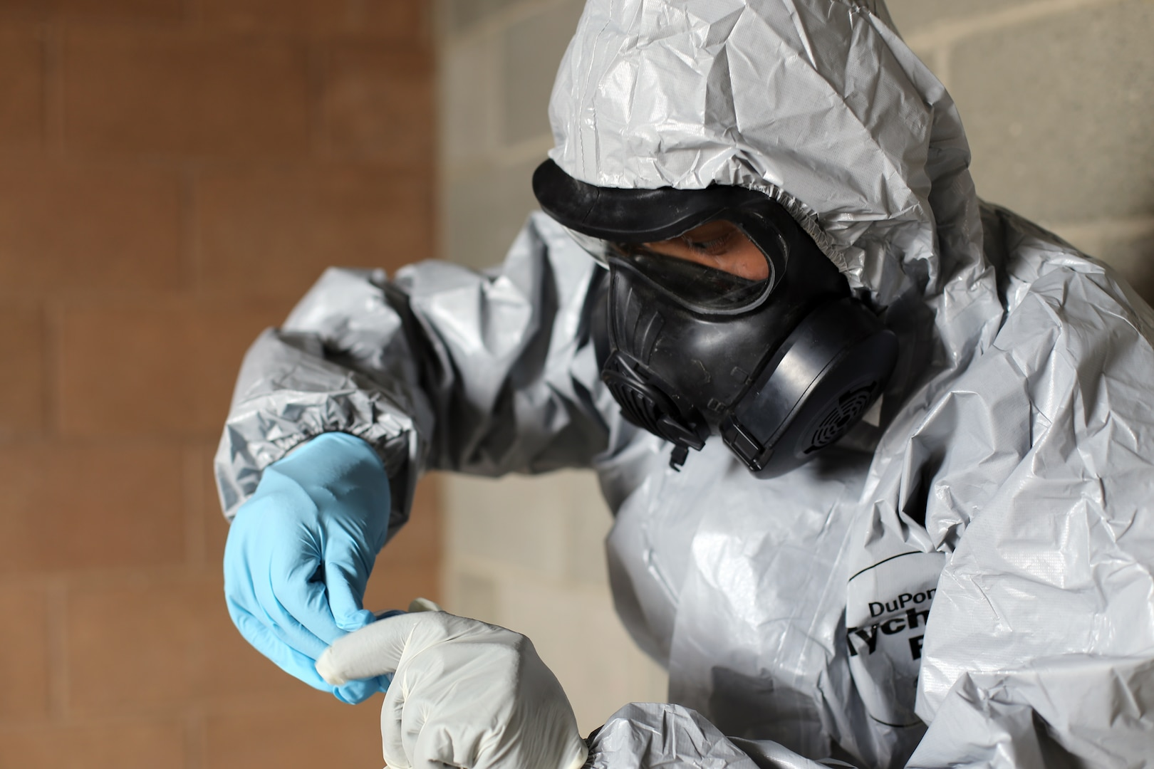 Members of the Washington National Guard's 792nd Chemical Company conduct a chemical sampling exercise in a biological hazard environment at the HAMMER Training Facility in Richland, Wash., June 15, 2021. The 792nd Chemical Company supports the Chemical, Biological, Radiological, Nuclear team under the Washington National Guard Region X Homeland Response Force.