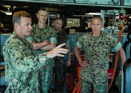 Rotationally-deployed littoral combat ships