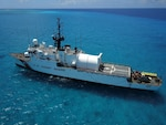 Coast Guard Cutter Legare (WMEC 912) patrols in the Caribbean in April 2021. The cutter was deployed in support of Operation Unified Resolve/Martillo under the tactical control of Joint Interagency Task Force South (JIATF-S) and the Seventh Coast Guard District.
