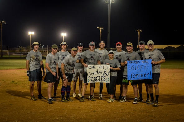 The Eagle's poses for a photo during the Chief's versus Eagle's softball game at Andersen Air Force Base, Guam, June 18, 2021.