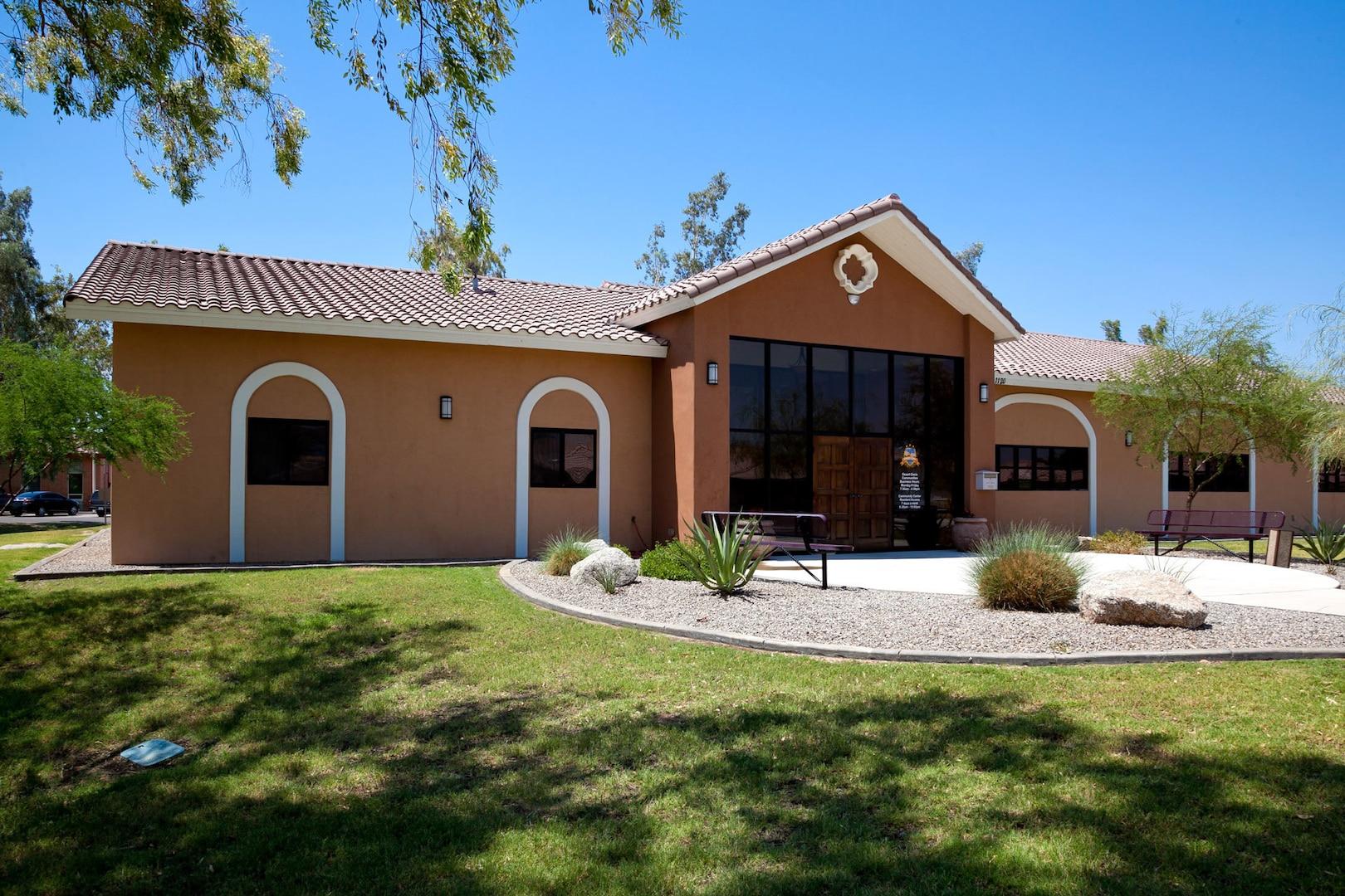 Home in the desert shown.