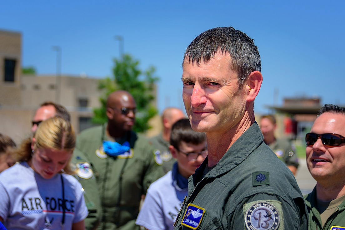 Instructor pilot retires after 33 years of service.