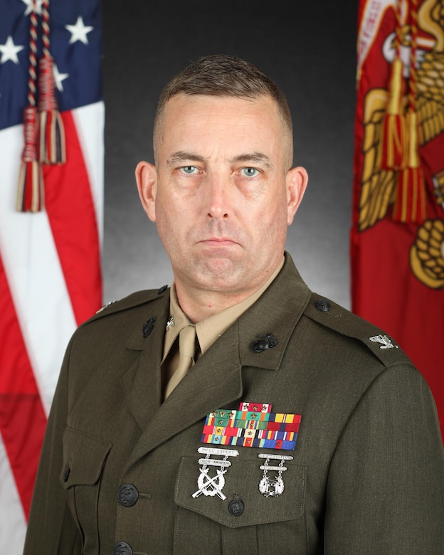 Col Lance Langfeldt poses for a command photo.