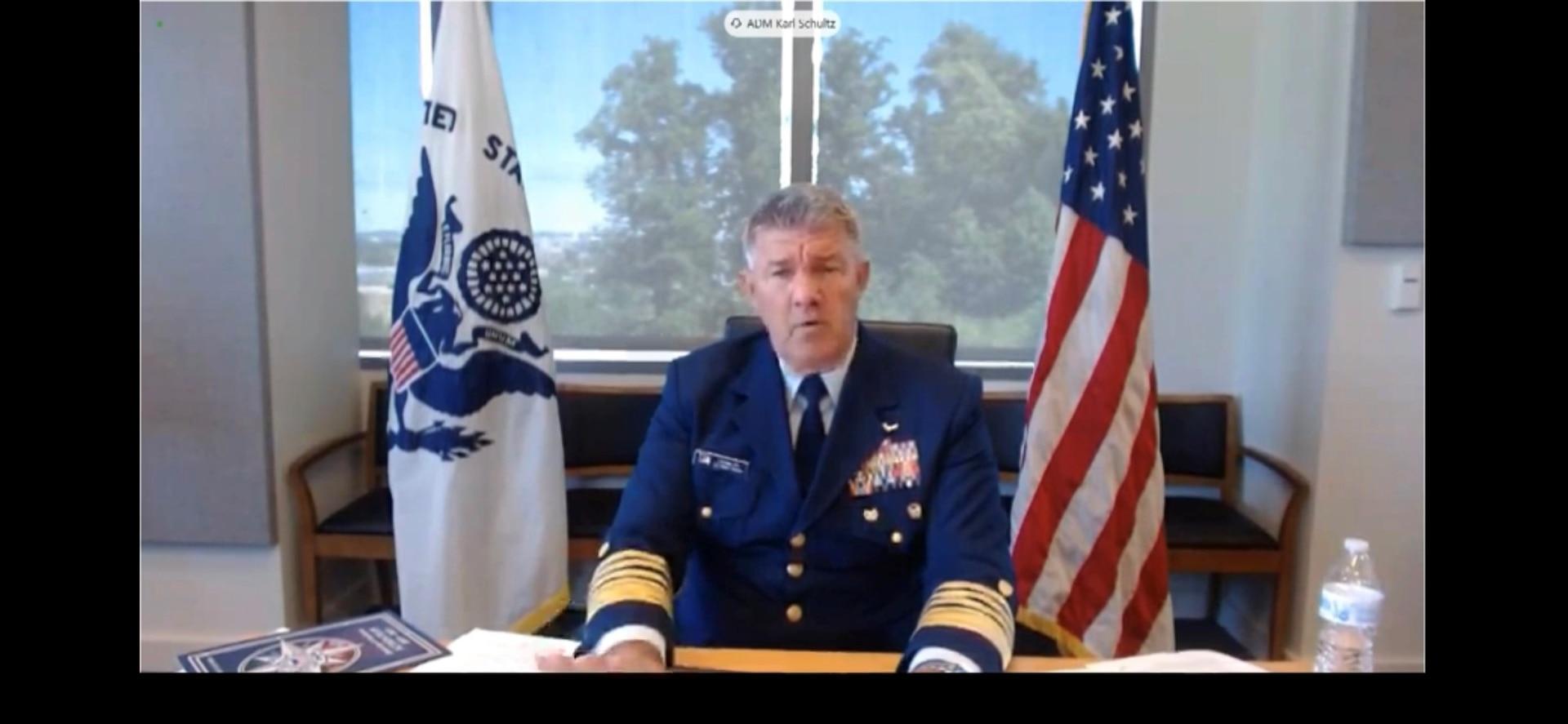 Adm Karl Schultz testifies before the House Committee on Homeland Security on June 23, 2021.