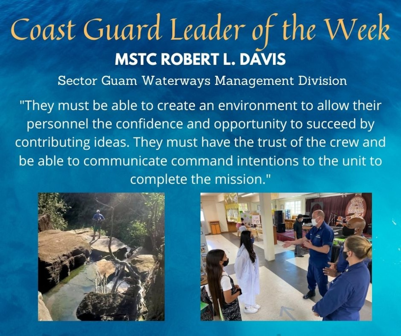 Our Deckplate Leader of the Week is Chief Petty Officer Robert L. Davis
