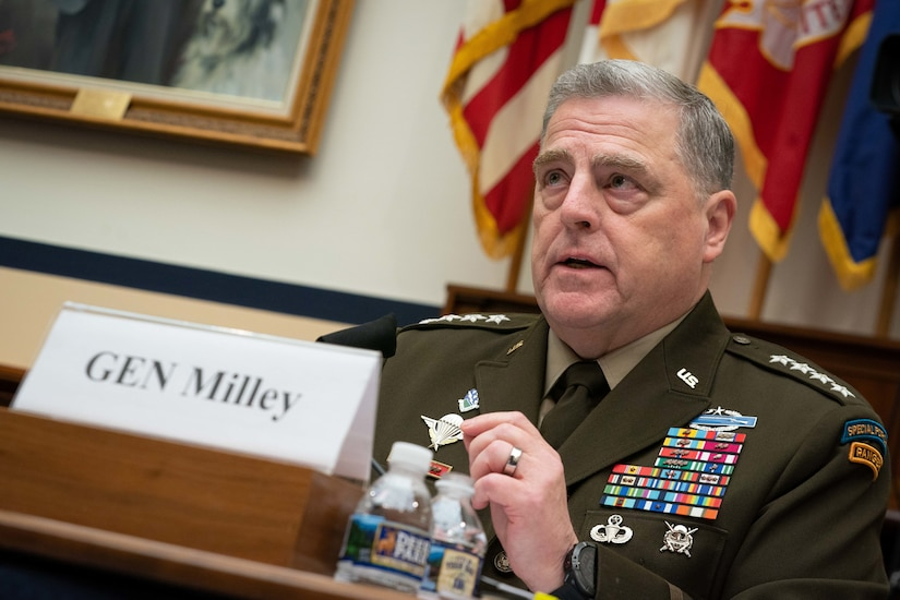 A military officer testifies.