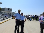 Picture of Capt. Jim O'Keefe with author Meghan Watson after her graduation from boot camp at Training Center Cape May. (Photograph courtesy of James O'Keefe)