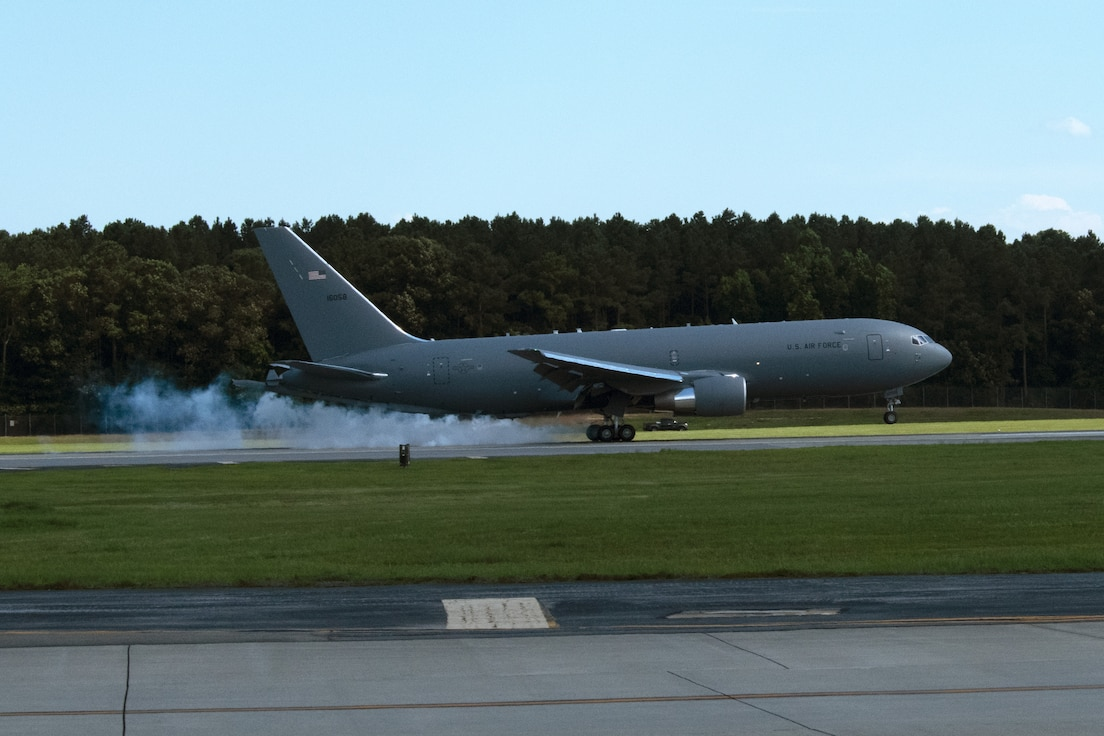 Tail 6058 touches down at 916ARW