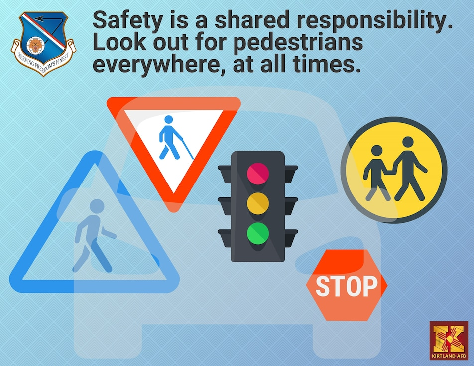 Graphic about pedestrian safety