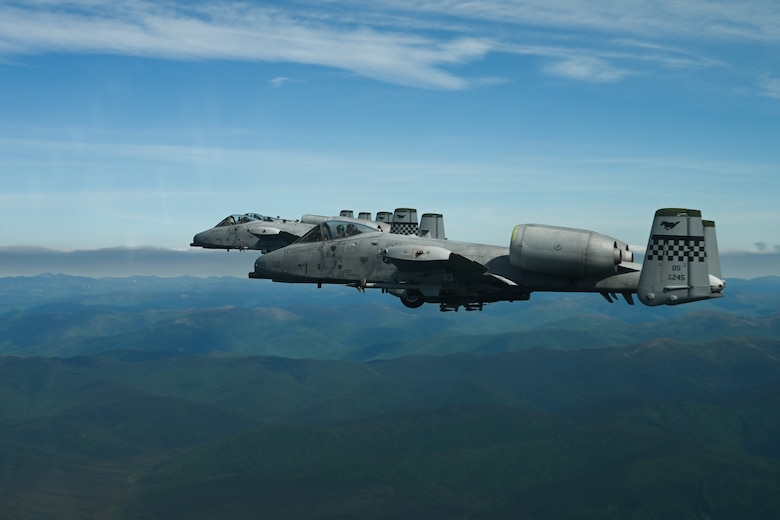 A-10s execute air combat exercise during Red Flag-Alaska 21