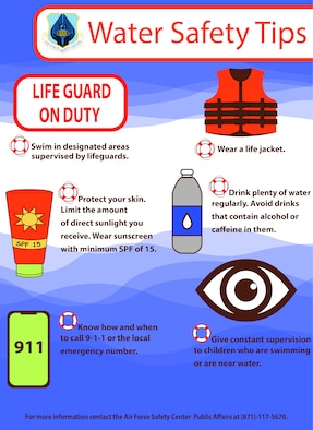 Water safety tips graphic